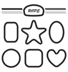 set of monochrome brushes and frames vector image
