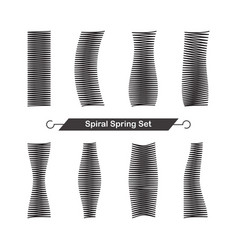 set of spiral spring vector image