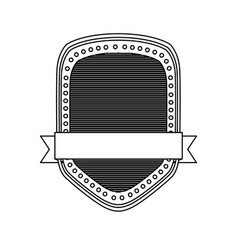 Silhouette heraldic shield with striped inside and vector