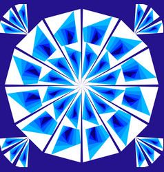 simple geometric tile composed of white and blue vector image