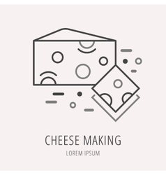 Simple Logo Template Cheese Making vector