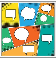Speech Bubble in Pop-Art Style vector