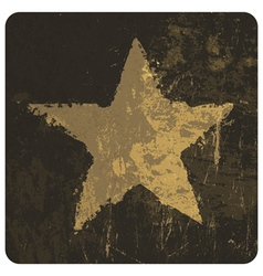 star symbol on grunge texture vector image