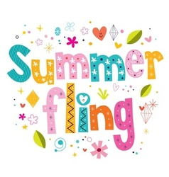 Summer fling vector image