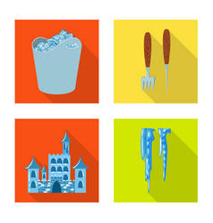 texture and frozen symbol vector image