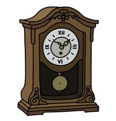 The old desktop pendulum clock vector