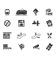 Train station symbols vector image