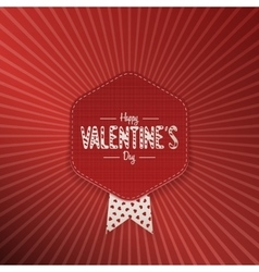 Valentines Day textile greeting Banner with Text vector