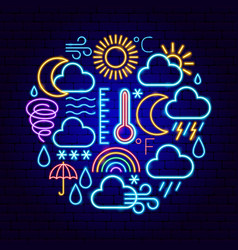 Weather forecast neon concept vector