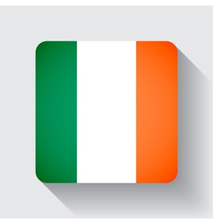 Web button with flag of Ireland vector