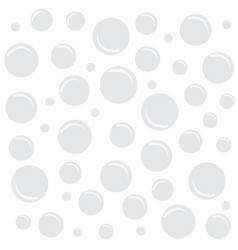 white background with bubbles vector image vector image