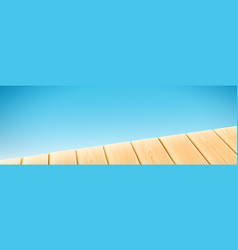 wooden light table isolated on blue background vector image