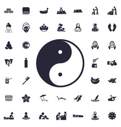 Yin yang icon vector
