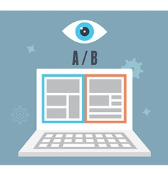 AB testing optimization of website Which one vector image