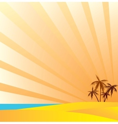 An oasis is in the desert vector image