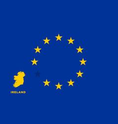 eu flag with ireland country european union vector image vector image