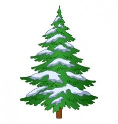 fur tree under the snow vector image vector image
