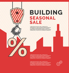 poster the construction of houses vector image vector image