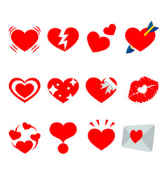 red heart valentine i love you sweetheart vector image