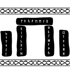 runic stones vector image vector image