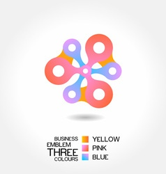 abstract business emblem vector image