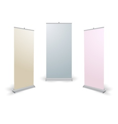 Rollup Banner vector image