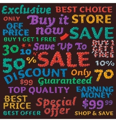 Seamless colorful sale discount pattern vector image