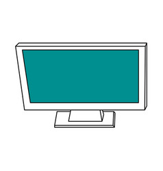 sketch color silhouette top view desk computer vector image vector image