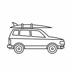 Car with luggage icon outline style vector image vector image