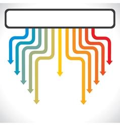 color arrow move down stock vector image vector image