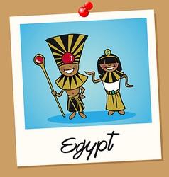 Egypt travel polaroid people vector image vector image