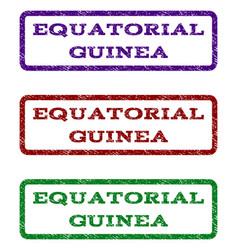 equatorial guinea watermark stamp vector image