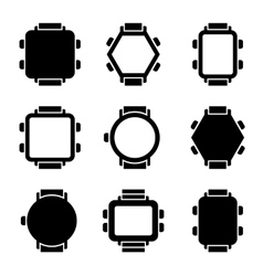 Smart Watch Icons vector image vector image
