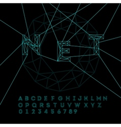 Space technology alphabet vector image