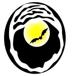 Bat on Moon Background vector image