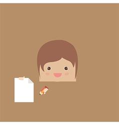cartoon doodle man rectangle of business vector image