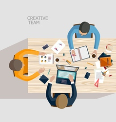 Creative team vector image