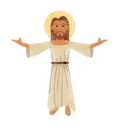 drawing jesus christ character vector image vector image
