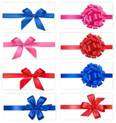 group with color bows vector image vector image
