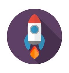 rocket icon 08 vector image