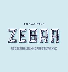 3d modern font white modern line alphabet vector image
