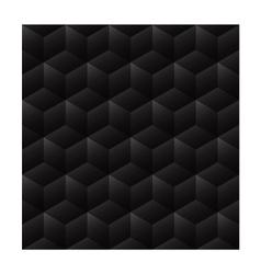 3d seamless cube background dark vector image