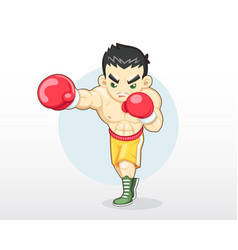 a boxer right punching vector image