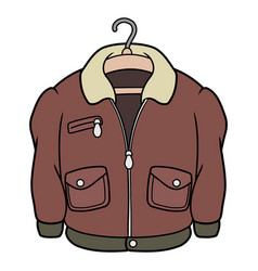 A classic leather jacket vector