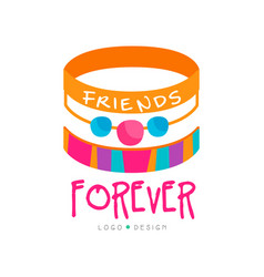 Abstract design with friendship bracelets vector