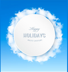 abstract holiday background with blue sky and vector image