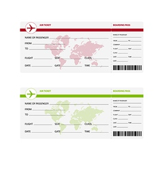 air ticket world vector image vector image
