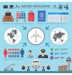 Airport Infographics Template vector