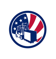american logistics usa flag icon vector image