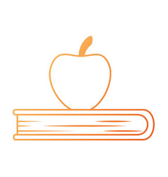 apple fresh with book vector image